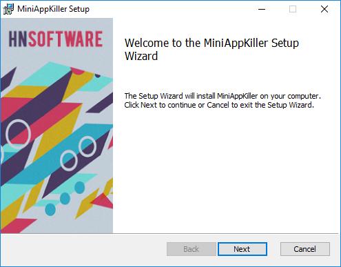 Installer UI - welcome dialog
