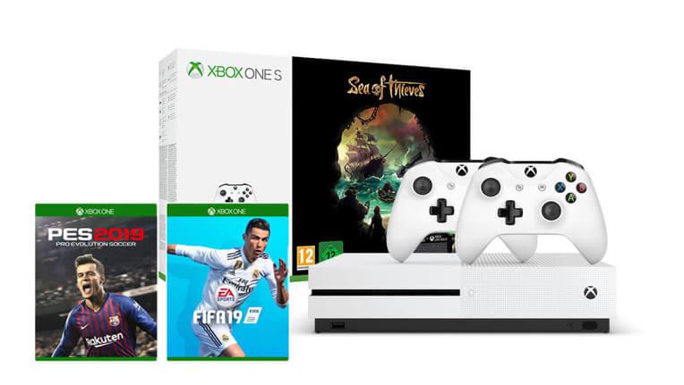 Xbox One S 1 TB<br/>Sea of Thieves Paketi + FIFA 19