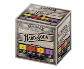 Seagram's Hard Soda Variety Pack bottles or cans