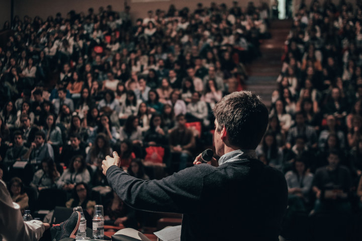 speaking to an audience