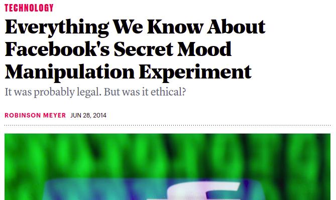 Facebook mood experiment
