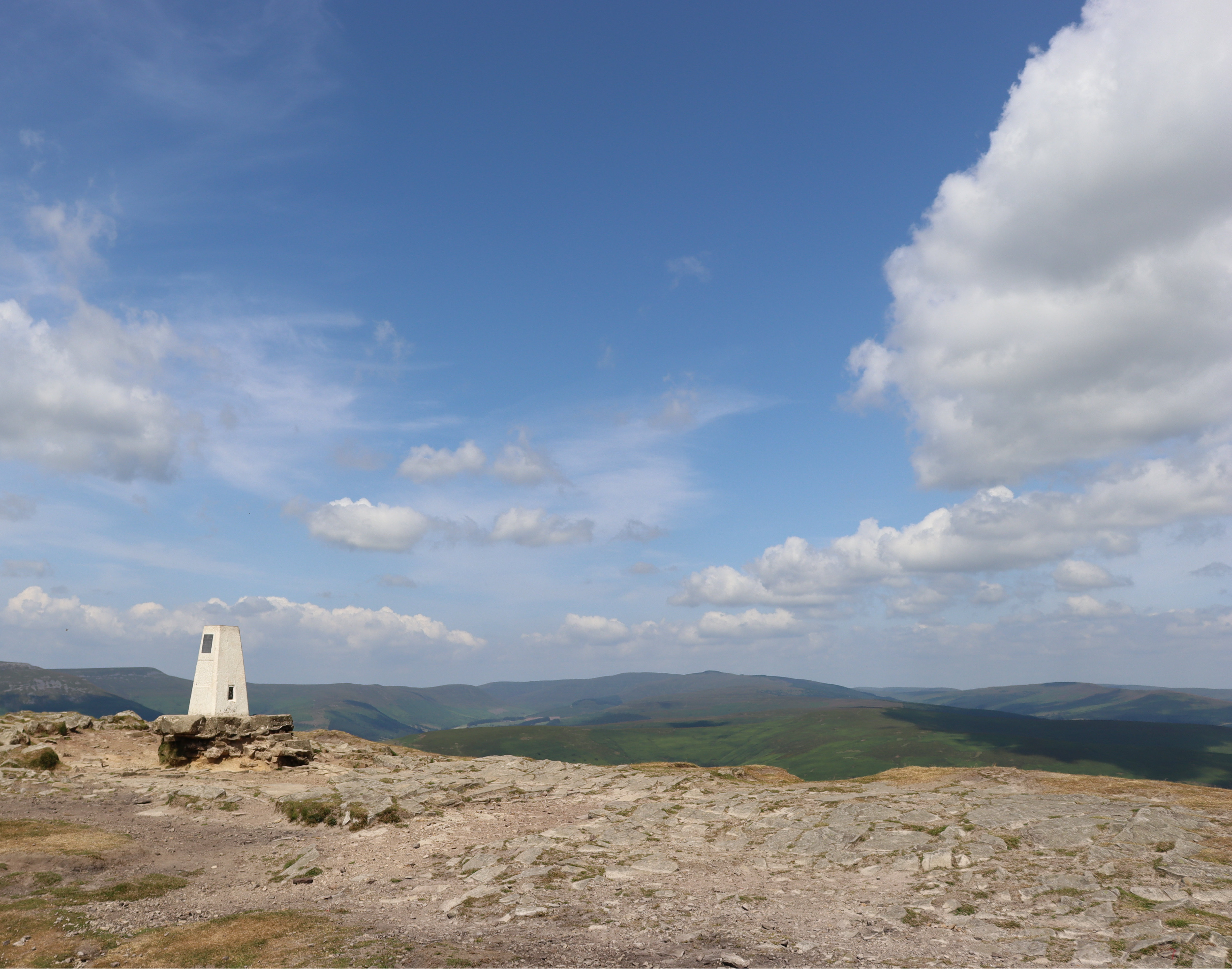 Trigpoint at the top of sugar loaf mountain.