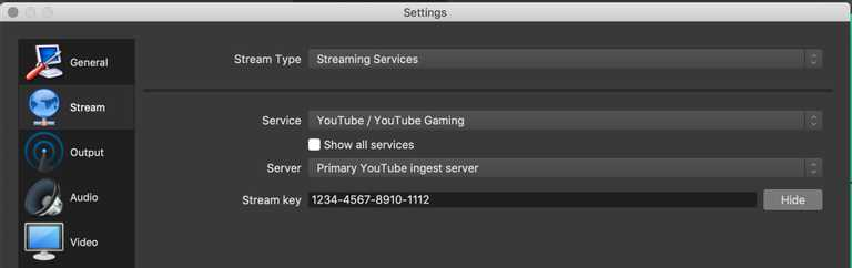 livestream encoder settings
