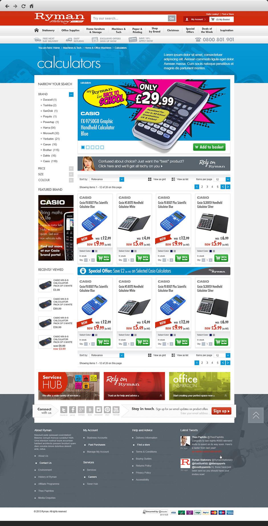 Ryman eCommerce Rebrand