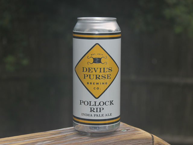 Pollock Rip, an IPA brewed by Devil's Purse Brewing Company