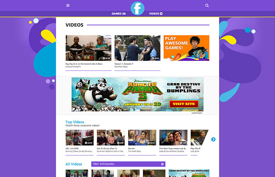 Family Videos Page