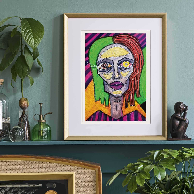 'Doll Face' Giclée Art Print