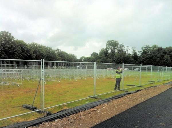 Temporary Anti-Climb Fencing Installation