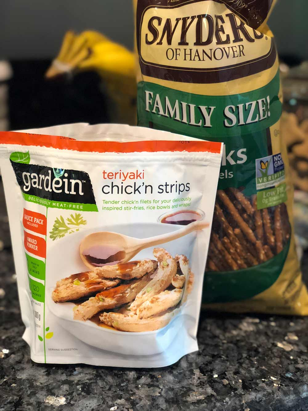 Vegan Crispy Pretzel Chicken Fries ingredients