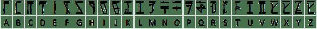 Dethek capital alphabet