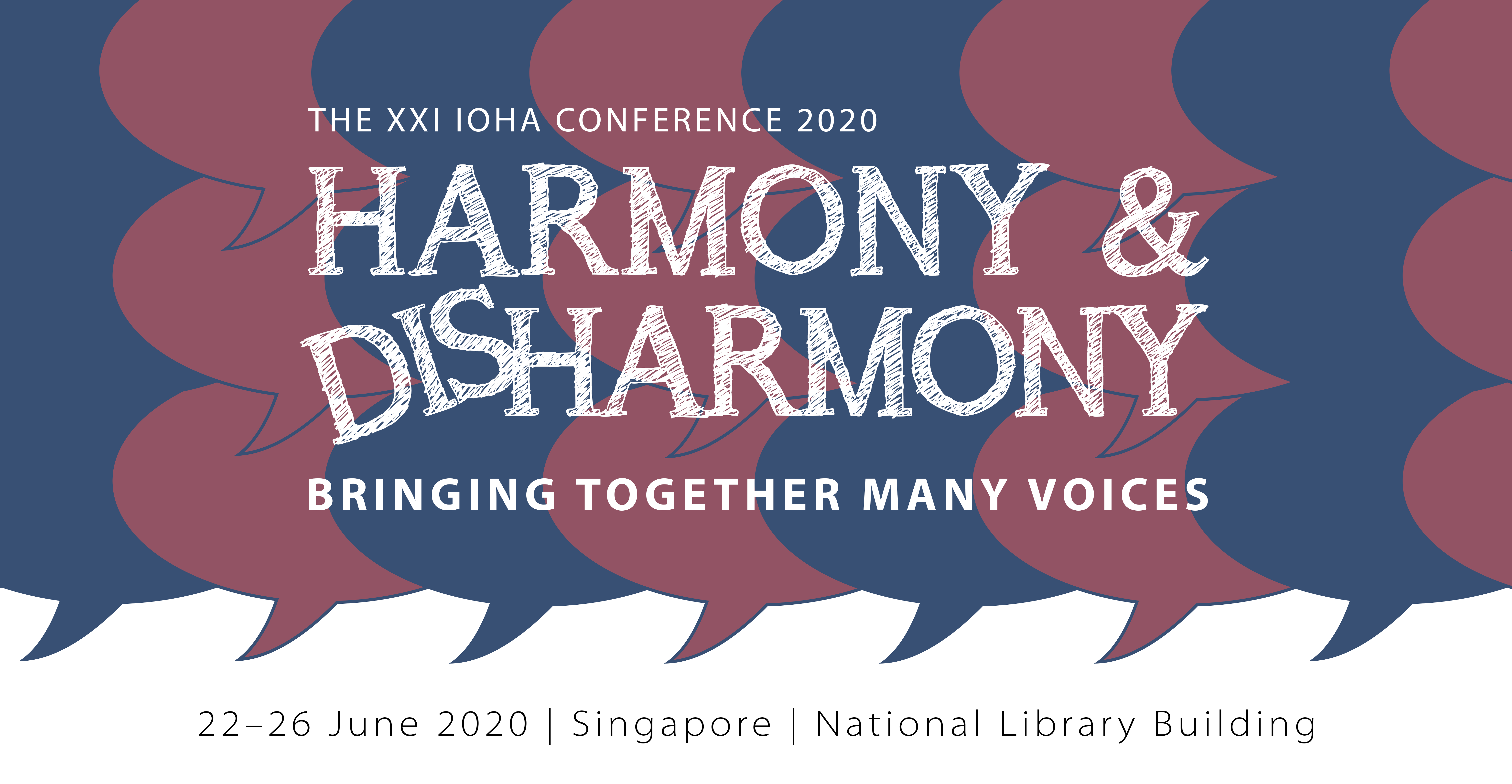 IOHA 2020 Blue Pink on White banner