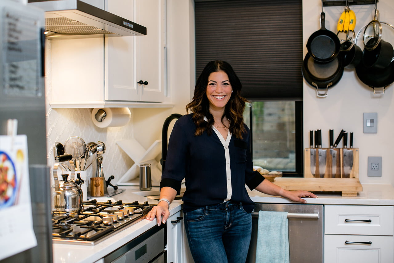 Homeowner with her renovation