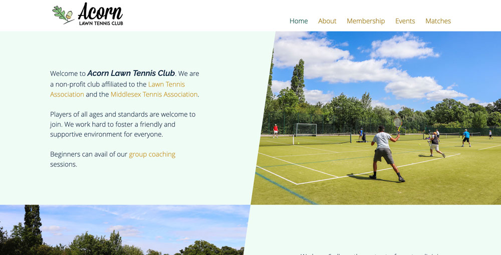 Acorn Lawn Tennis Club Screenshot