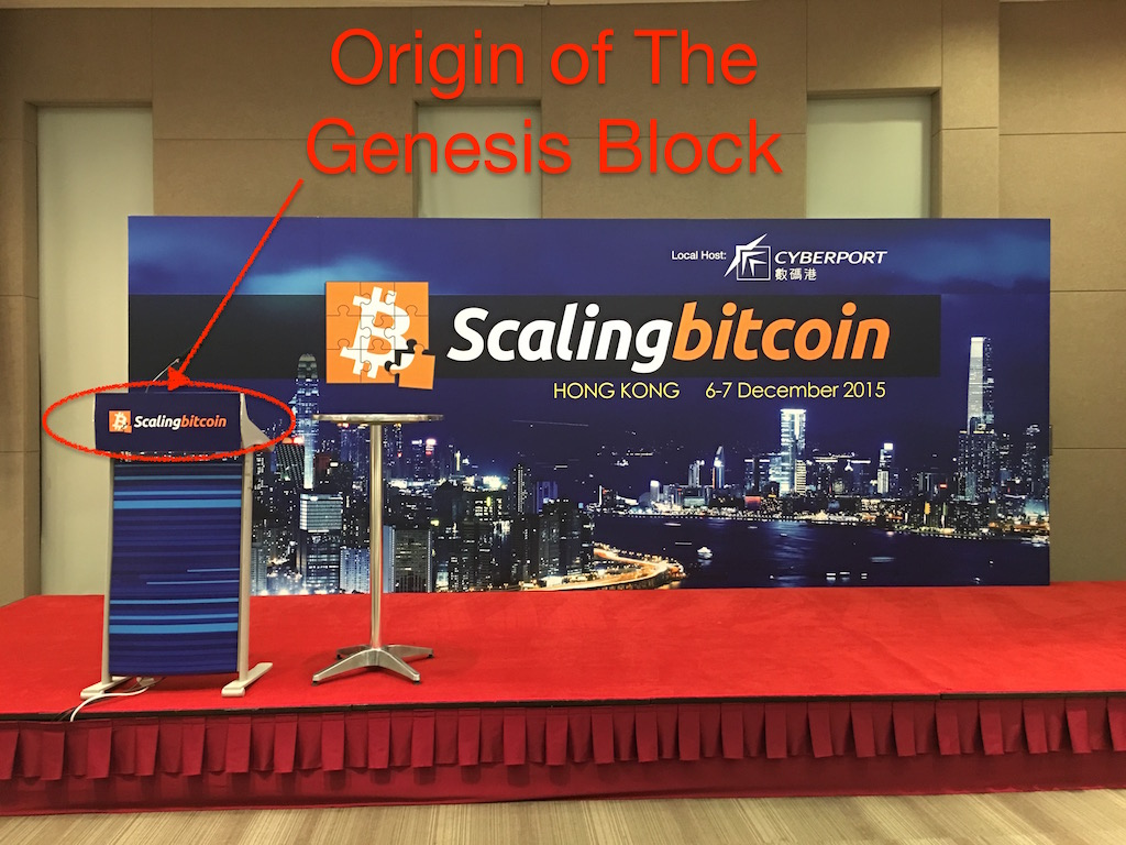 Original location of the Scaling Bitcoin Genesis Block