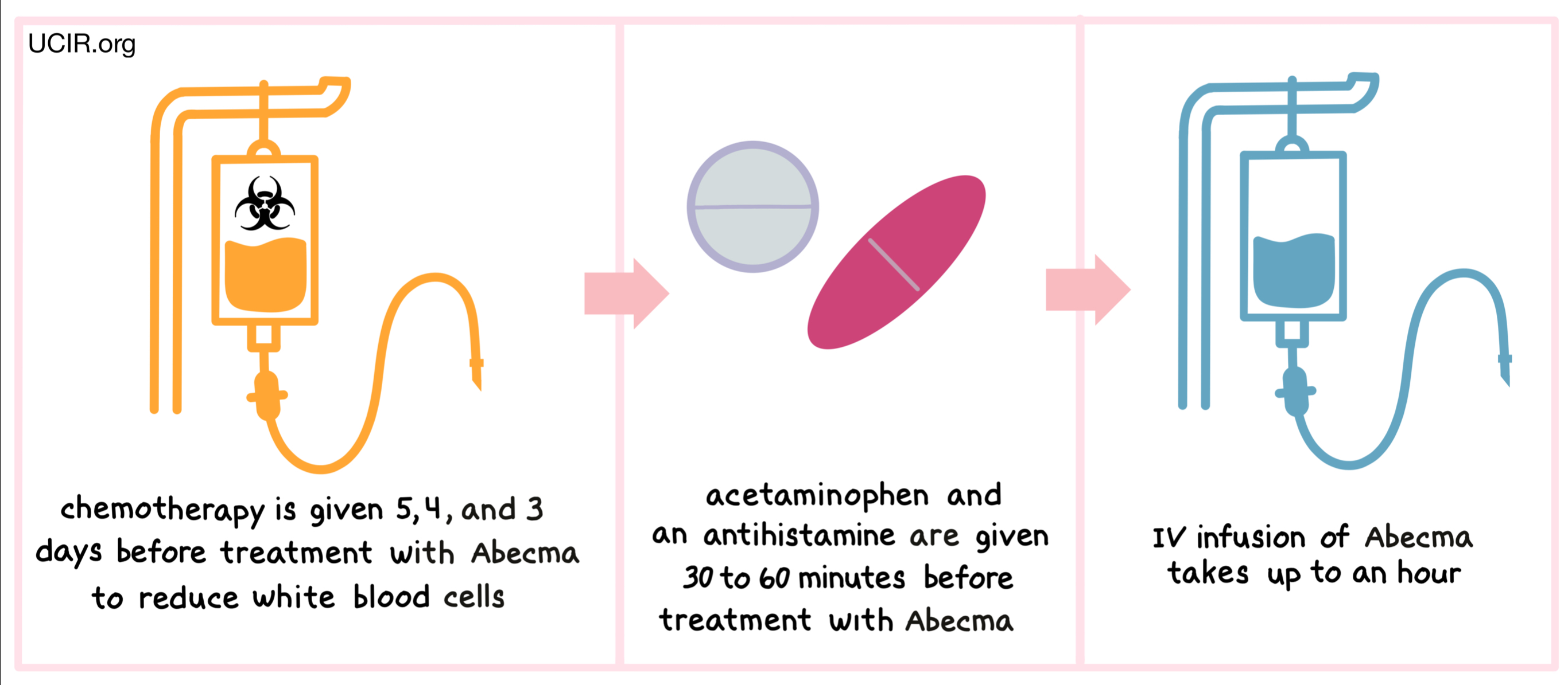 Timeline showing how Abecma is administered