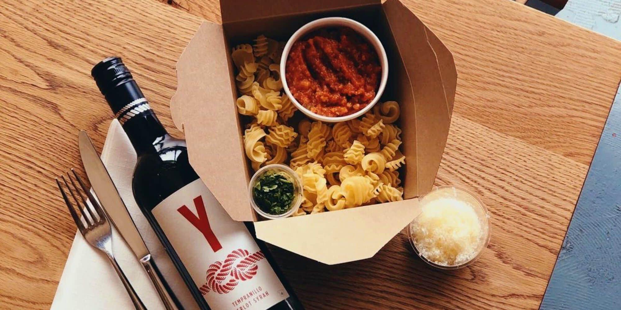 Sarto pasta and wine