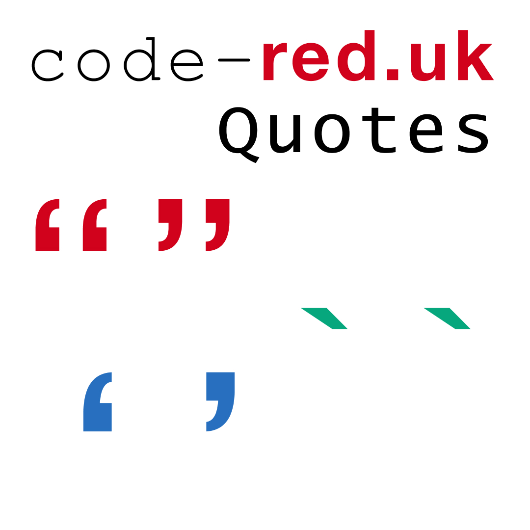 Different types of programming quotes