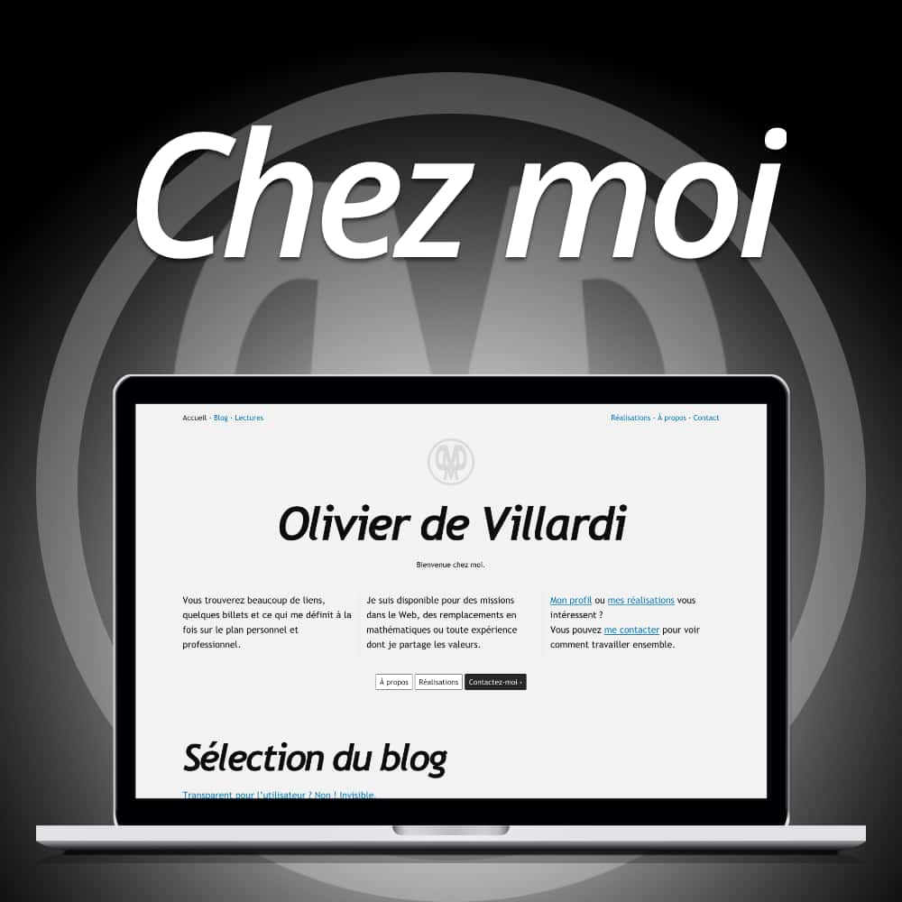 Capture d'écran du site du site odevillardi.fr