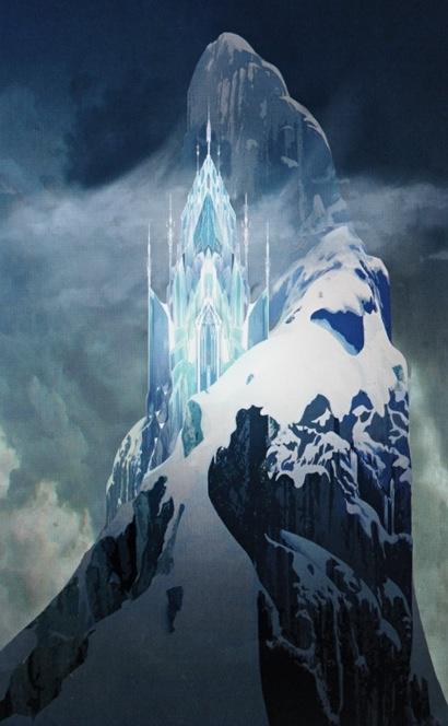 Ice palace concept art, Frozen