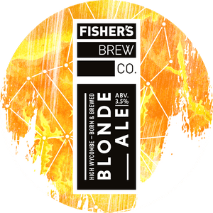 Fisher's Blonde Ale keg badge