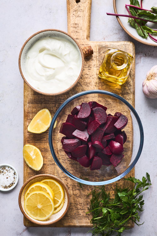 Beetroot Salad With Greek Yogurt