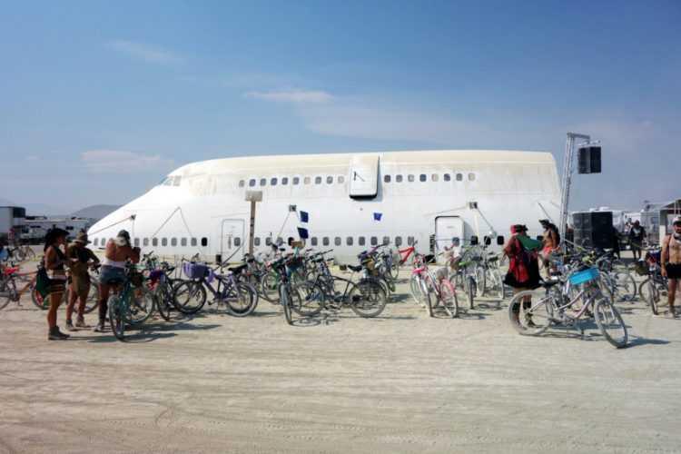 Burning Man Plane