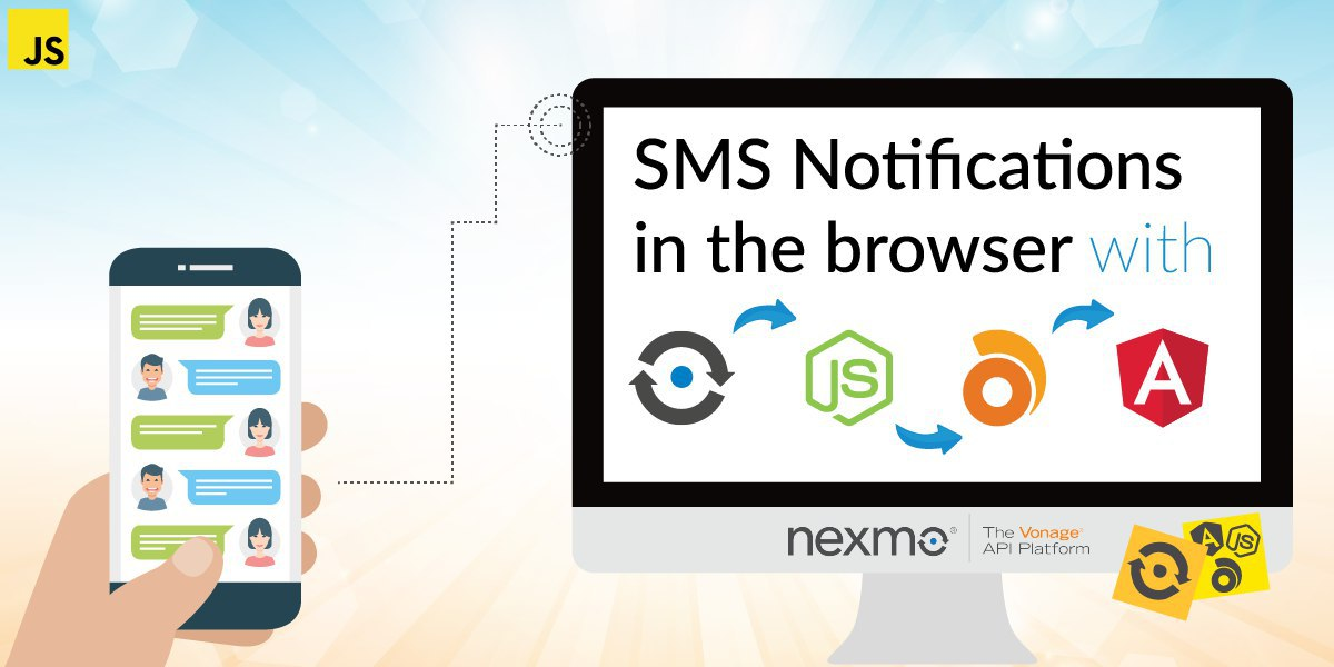 How to Show SMS Notifications in the Browser with Angular, Node.JS, and Ably