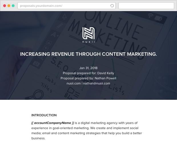 Nusii Content Marketing Template