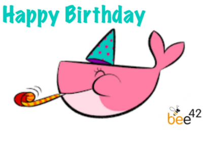 Docker Birthday Whale bee42