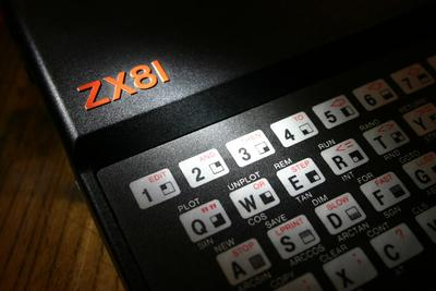 Close up of Sinclair ZX81