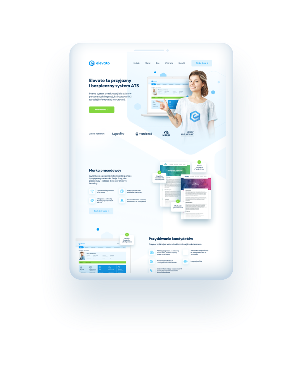 Tablet with Elevato app