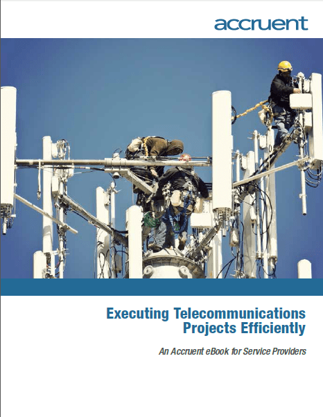Accruent - Resources - eBooks - Executing Telecommunications Projects Efficiently - Cover Image