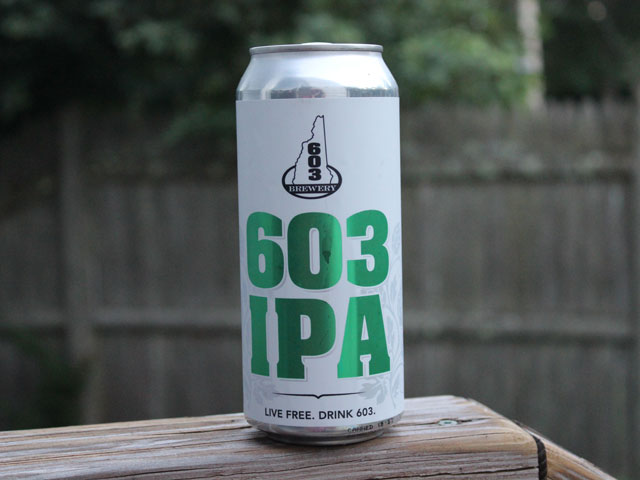 an IPA brewed by 603 Brewery