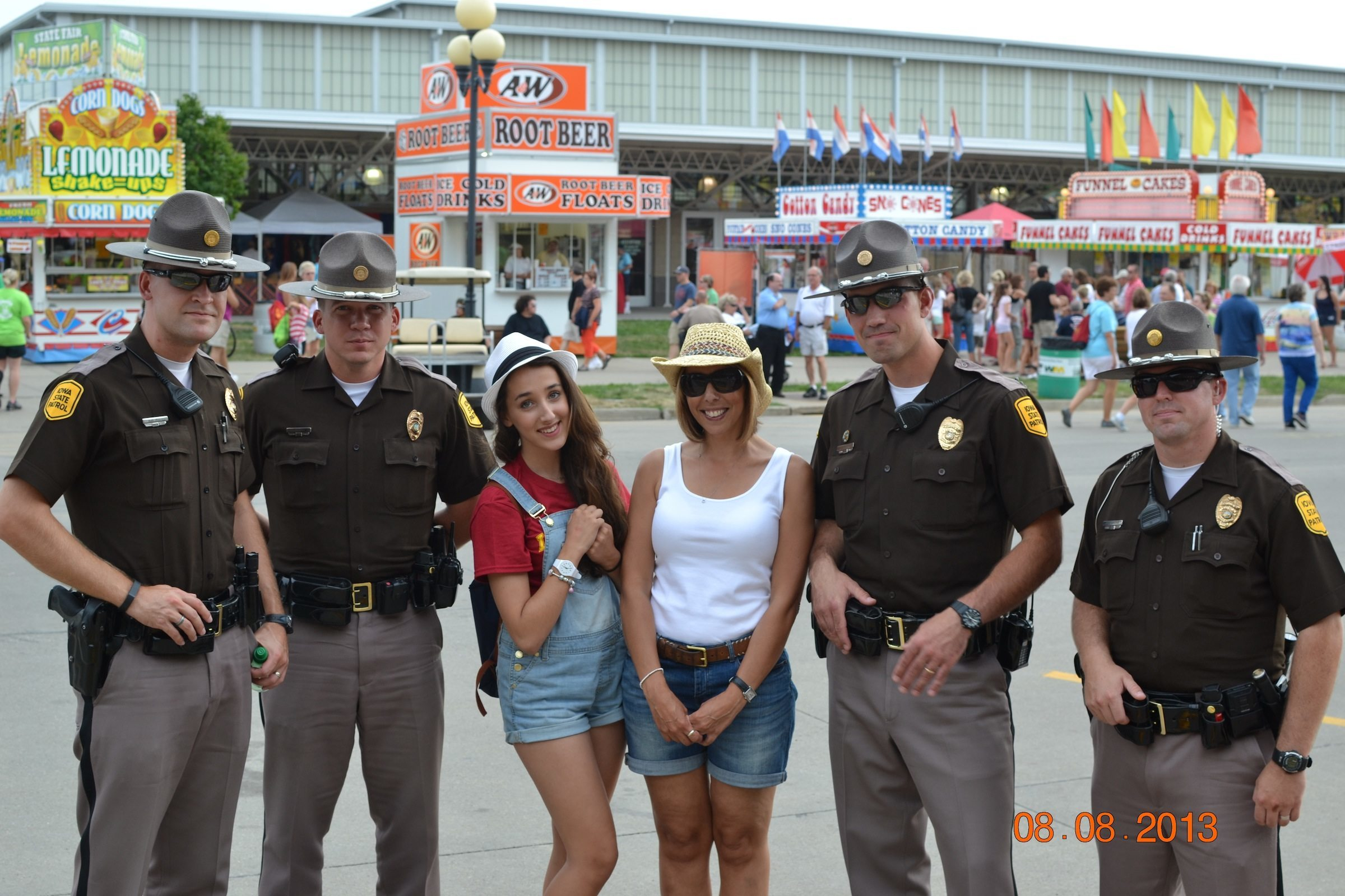 I had to ask for the State Patrol's permission to have a picture, and I wasn't even in it?!