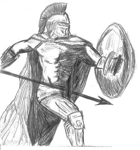 Spartan Warrior Sketch
