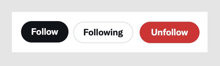 Twitter's three button states