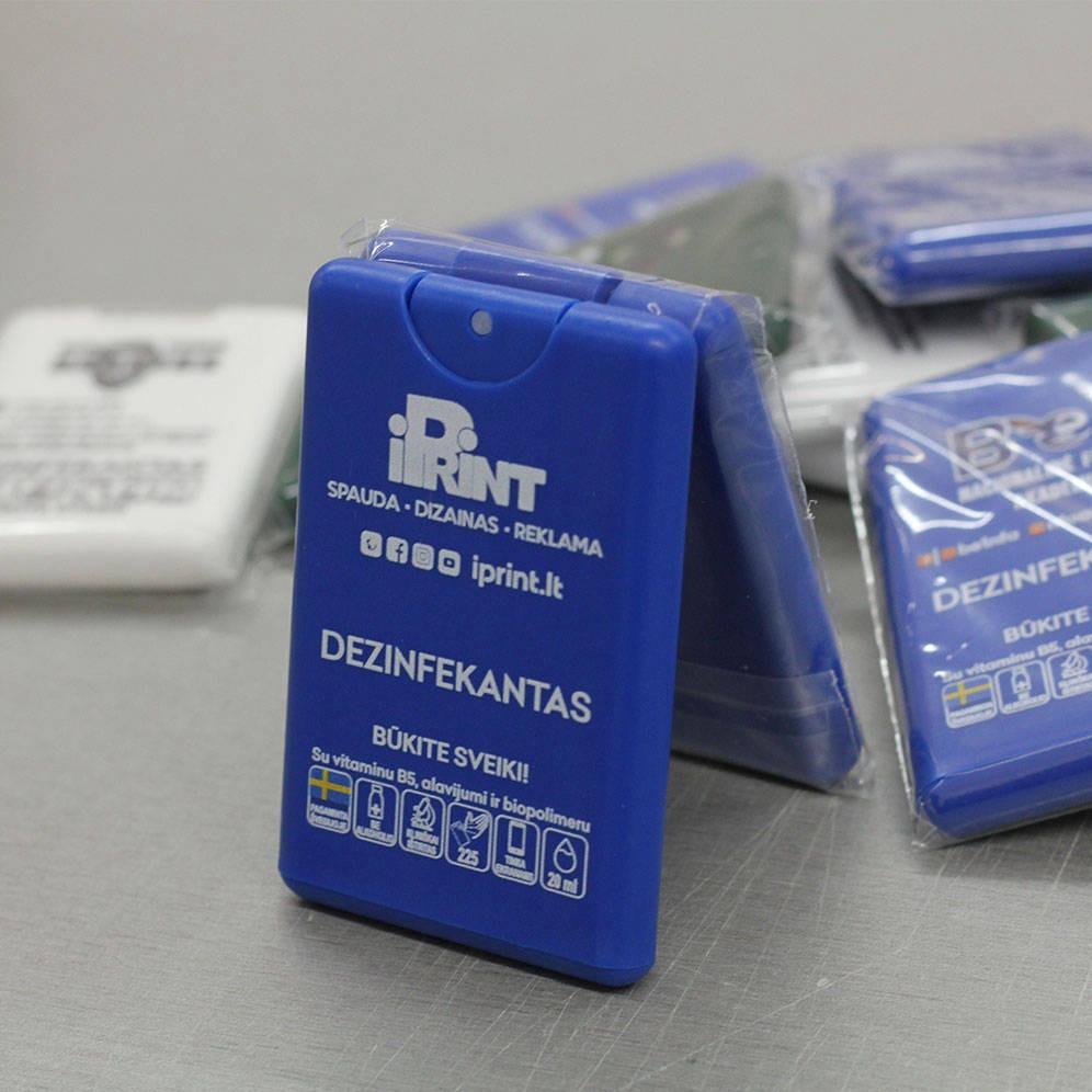 Dezinfekcinis skystis, dezinfekatoriai kišeninė pakuotė