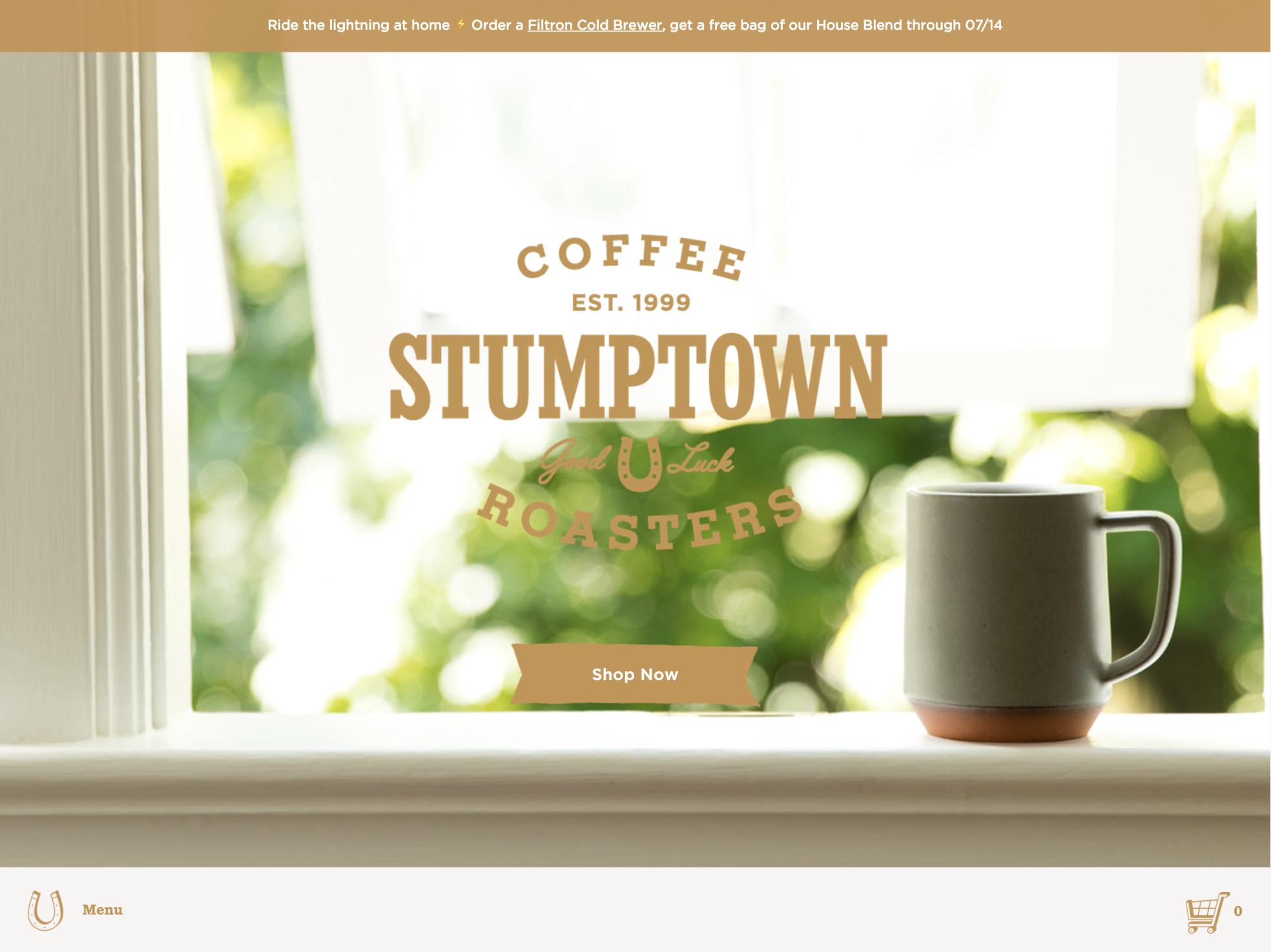 Stumptown Coffee home page