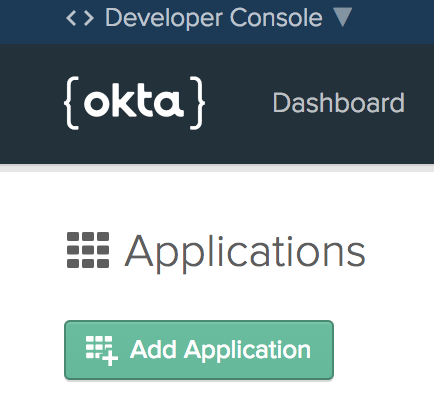 Add Application button