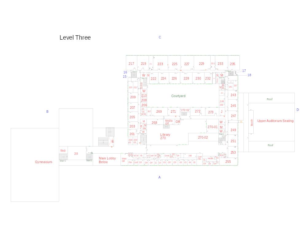 Floor plan of the second floor