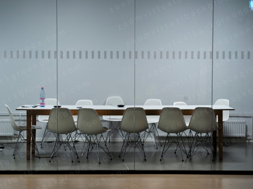 Corporate Boardroom Virtual Background for Zoom with glass partition
