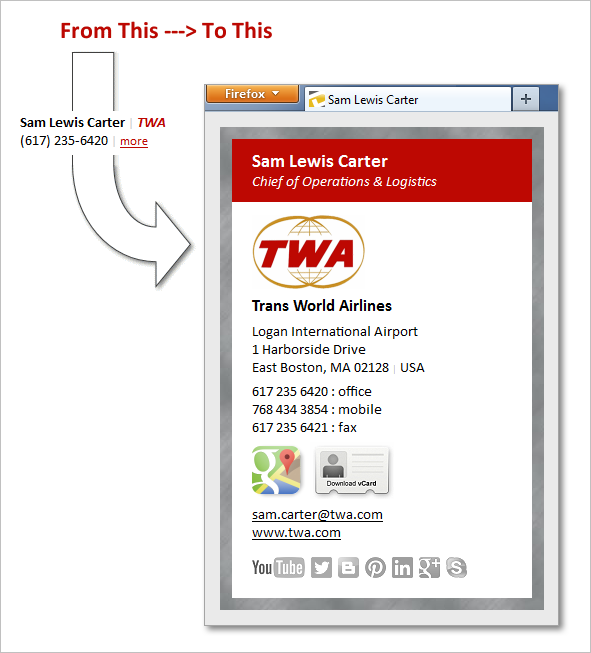 two-tier TWA email signature