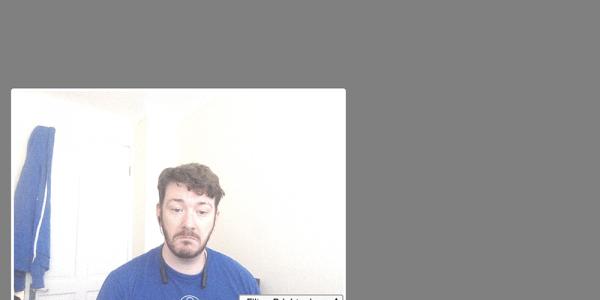 Vonage Video stream with a brightening filter