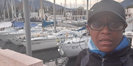 Yvette Christmas morning 2019 on Lake Garda