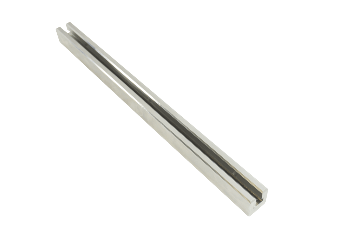 Machined T-bar from stainless steel