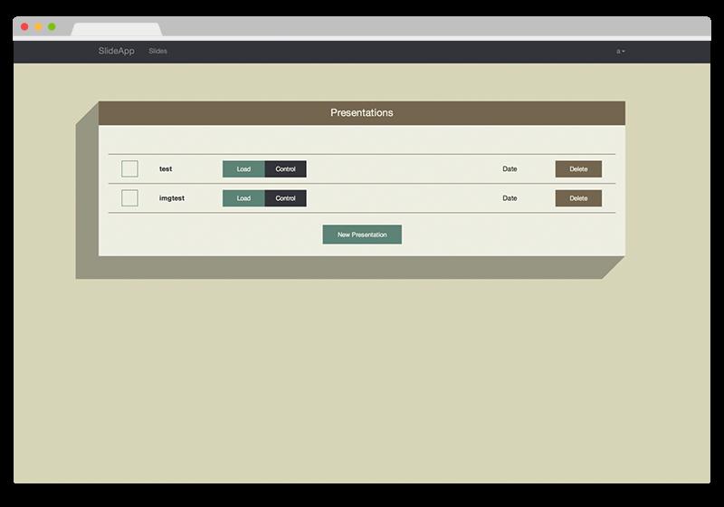 SlideApp Screen
