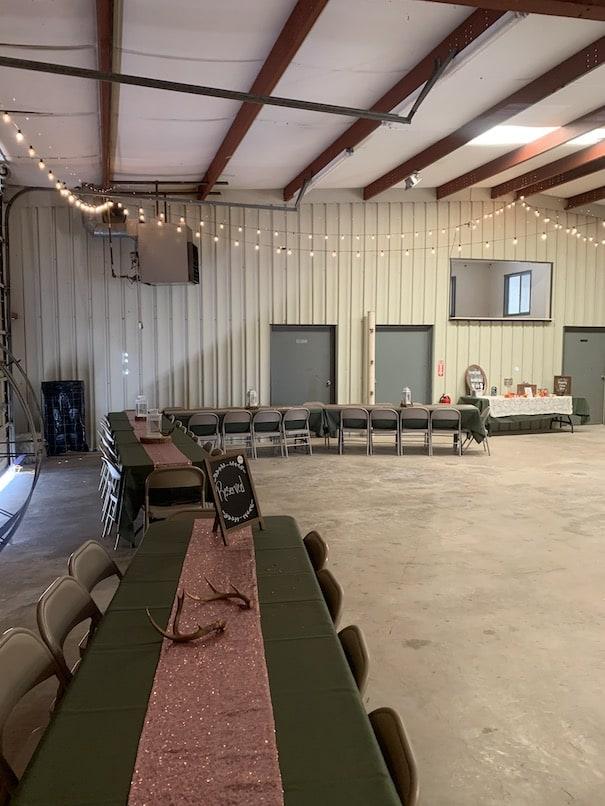 Inside the barn at chapel falls wedding venue