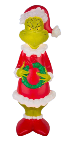 Grinch with Wreath photo