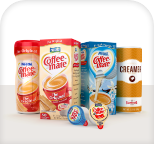 Coffeemate creamers are available for delivery