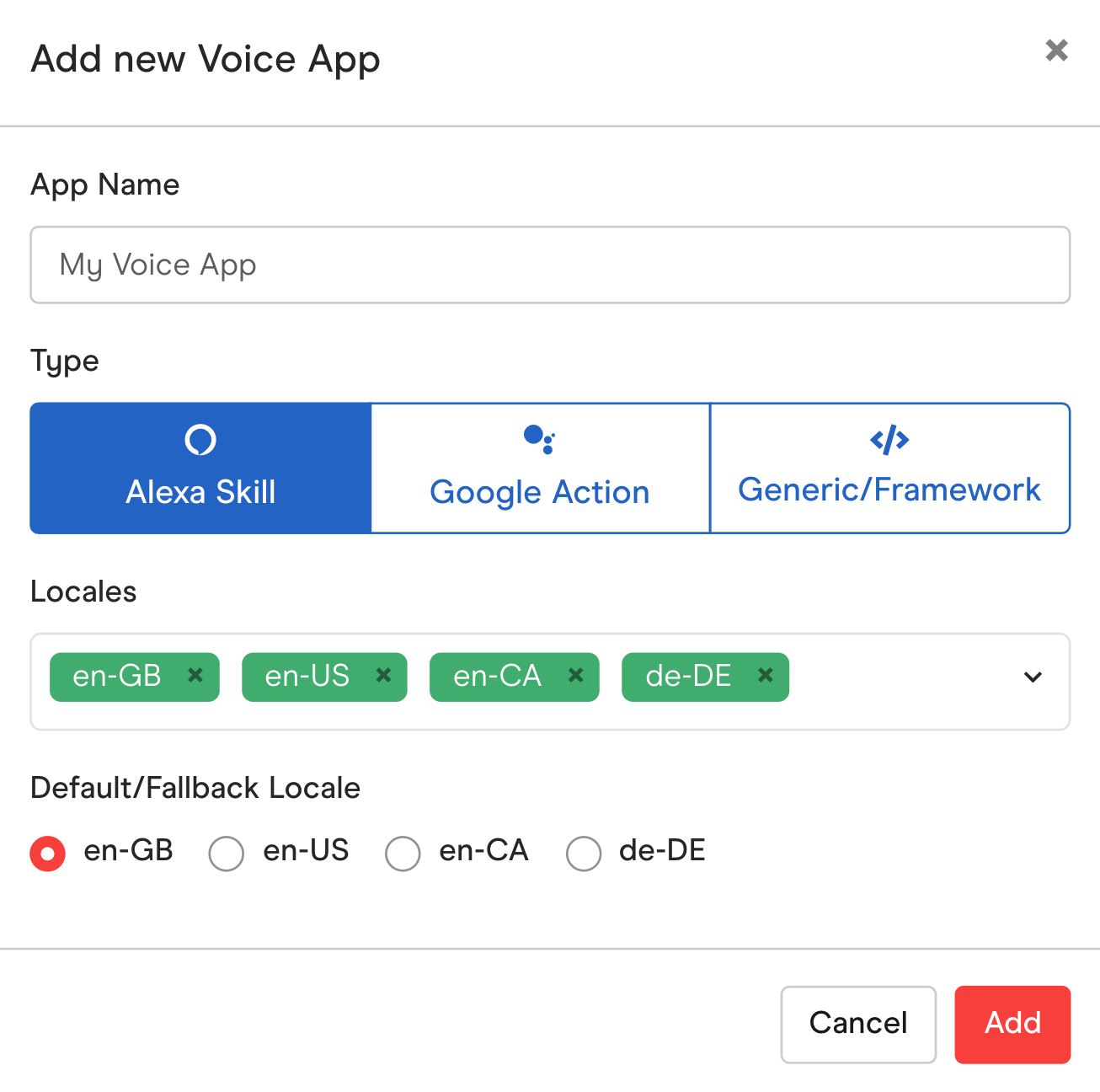 Create new Voice App